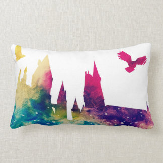 Watercolour Castle Lumbar Pillow