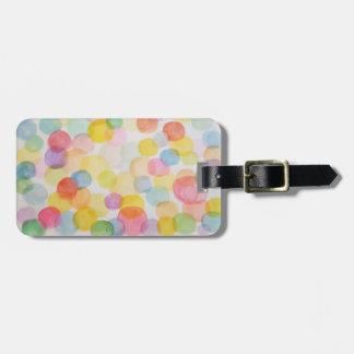Watercolour Circles Luggage Tag