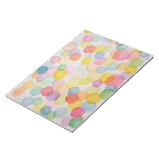 Watercolour Circles Notepad - 40 pages