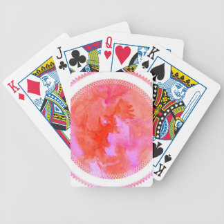 watercolour design circle design round mark bicycle playing cards
