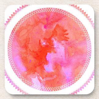 watercolour design circle design round mark coaster