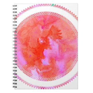 watercolour design circle design round mark notebooks