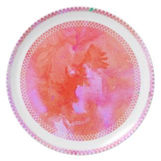 watercolour design circle design round mark plate
