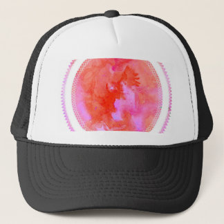 watercolour design circle design round mark trucker hat