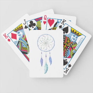 Watercolour Dreamcatcher with 3 Feathers Bicycle Playing Cards
