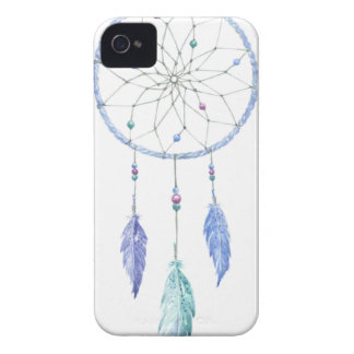 Watercolour Dreamcatcher with 3 Feathers iPhone 4 Case-Mate Case