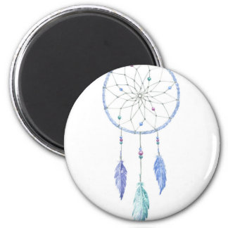Watercolour Dreamcatcher with 3 Feathers Magnet