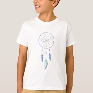 Watercolour Dreamcatcher with 3 Feathers T-Shirt