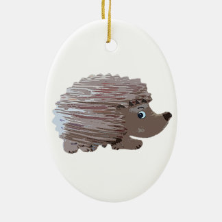 Watercolour Effect Hedgehog Ceramic Ornament