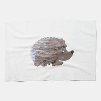 Watercolour Effect Hedgehog Kitchen Towel