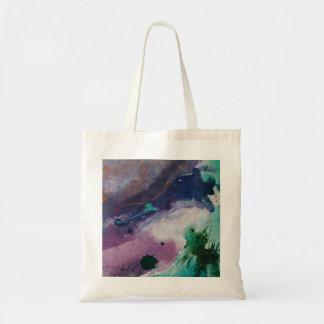 Watercolour effect tote bag