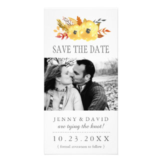 Watercolour Fall Save the Date Photo Cards
