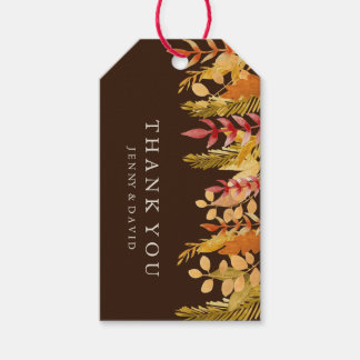 Watercolour Fall Wedding Favor Gift Hang Tag Pack Of Gift Tags