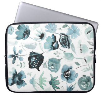 Watercolour floral design laptop sleeve