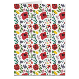Watercolour Floral Pattern Card