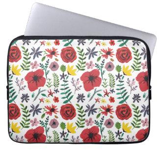 Watercolour Florals Design Laptop Sleeve