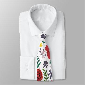 Watercolour Florals Design Tie