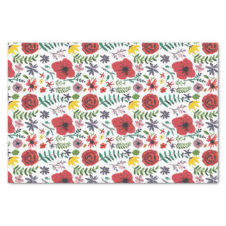 Watercolour Florals Design Tissue Paper