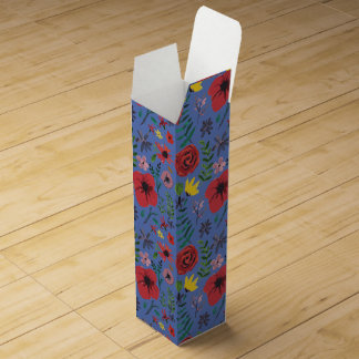 Watercolour Florals Wine Bottle Boxes