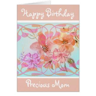 Watercolour Flowers  Birthday Greeting Card