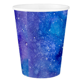 Watercolour Galaxy Paper Cups