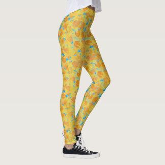 Watercolour Golden Yellow Daffodils to Customize Leggings