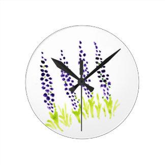 Watercolour grape hyacinth clocks