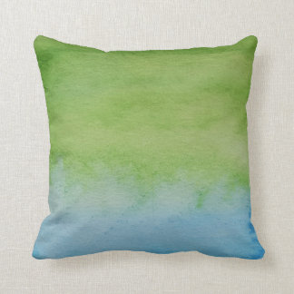 Watercolour Horizons Blue Green Throw Cushion