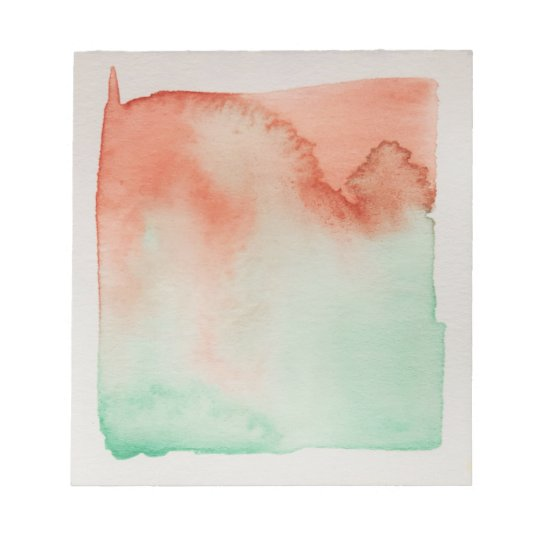 Watercolour Horizons Green Brown Notepad