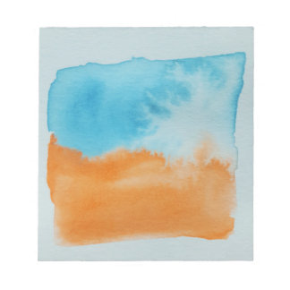 Watercolour Horizons Orange Blue Notepad