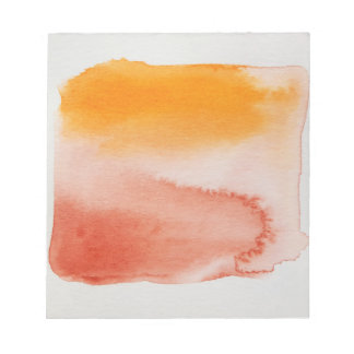 Watercolour Horizons Orange Brown Notepad