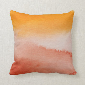 Watercolour Horizons Orange Brown Throw Cushion