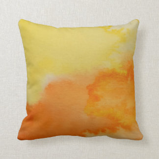 Watercolour Horizons Orange Yellow Throw Cushion