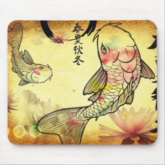 Watercolour Koi Mouse Pad