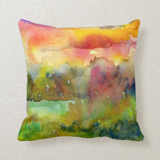 Watercolour Landscape Pillow