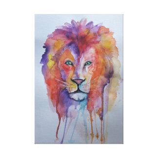 Watercolour Lion Canvas Print