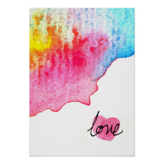 watercolour love poster