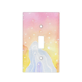 Watercolour Marble Light Switch Cover