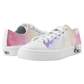 Watercolour Marble Low-Top Sneakers