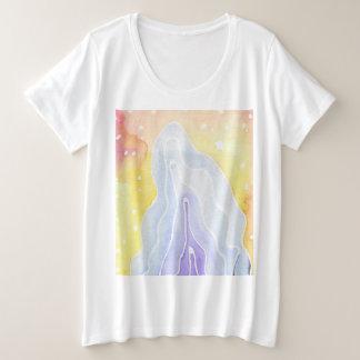 Watercolour Marble Plus Size T-Shirt