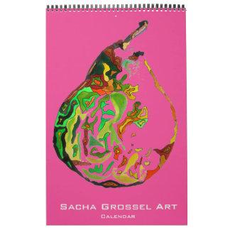 Watercolour Modern Art calendar by Sacha Grossel