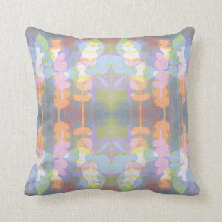 Watercolour monoprint floral cushion