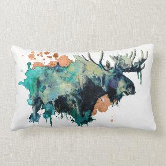 Watercolour Moose Pillowb Lumbar Pillow