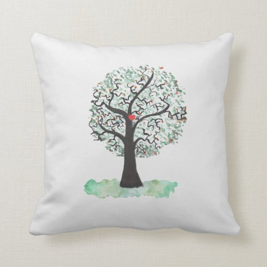 Watercolour Oak Tree Cushion