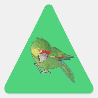 Watercolour parrot triangle sticker