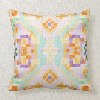 Watercolour pastel throw pillow