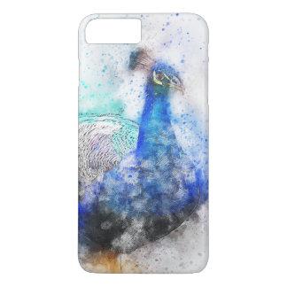 Watercolour Peacock iPhone 7 Plus Case