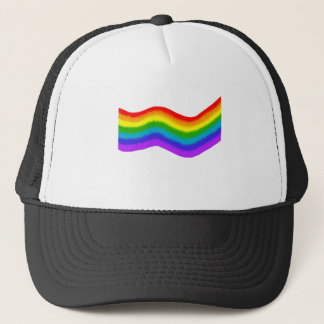 Watercolour rainbow colours trucker hat