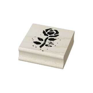 Watercolour Rose (Kimberly Turnbull Art) Rubber Stamp