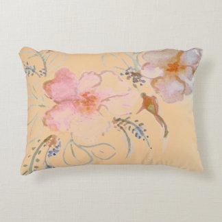 Watercolour Roses Peach Pillow